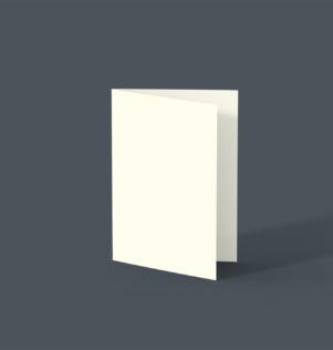 Blanco rouwkaarten met ril