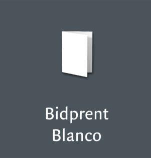 Bidprent Blanco